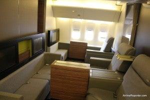 TAM first class, courtesy of airline reporter.com