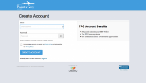 Create an account by using your email address and a unique password.
