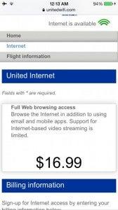 My flight had international WiFi.