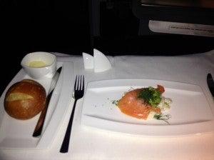 I chose the salmon starter.