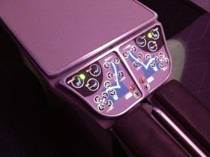 Seat controls.