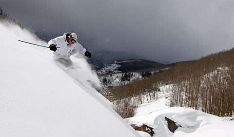 Skier in Vail, Colorado - photo by Chris McLennen