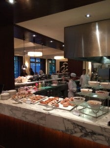 The breakfast buffet at Allegro.