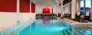 The indoor pool at the Westin Grand Frankfurt.