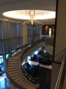 The lobby.