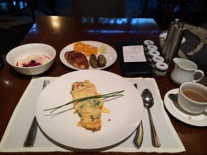 The omelets were a perfect way to fuel up for a day out.