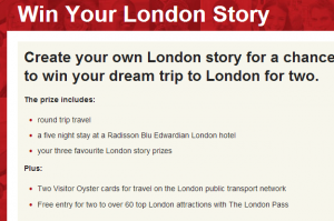 Win a trip to London.