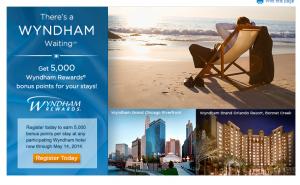 Wyndham hotels are offering a 5000 point bonus.