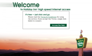 You don't need elite status to get free WiFi at the Holiday Inn.