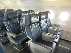 US Airways Economy Class seats