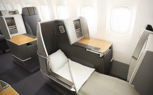 The new seats recline to full lie-flat beds.