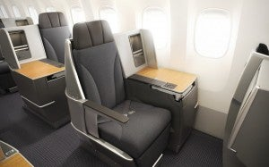 AA 767-300 business seat