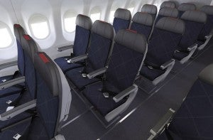 Economy seats on America's new A321