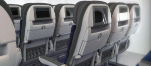 Economy seat-backs on America's new A321s