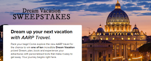 Win one of 10 dream vacations from AARP.