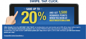 Get 1,500 bonus points for Best Western stays this spring.