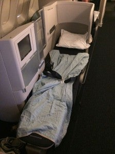 My exit-row Club World seat was exposed to the aisle, but I still managed to get some rest
