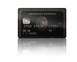 A Centurion card with an imbedded SmartChip