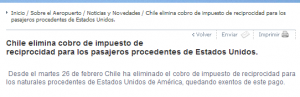 Chile ends $160 reciprocity fee.