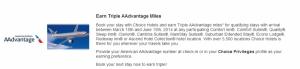 Earn triple AAdvantage miles on Choice hotel stays.