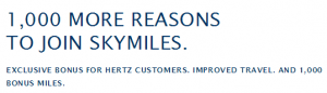 Get 1,000 bonus miles for joining Delta Skymiles.