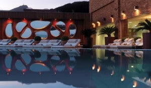 The pool at the Fasano Rio.