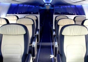 Low cost carrier Flydubai offers business class seats.