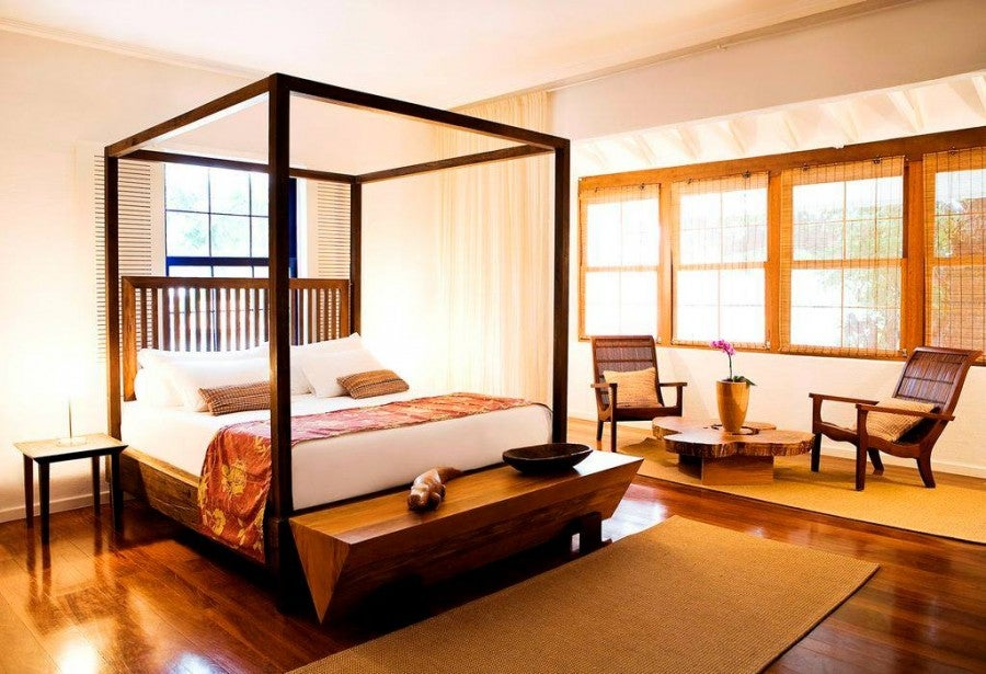 A guest room at the Hotel Santa Teresa.