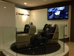 Brussels Airlines Business Class Lounge Display