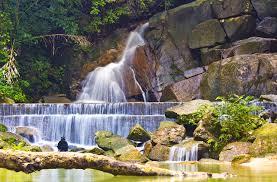 The Kathu waterfall in Phuket.