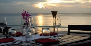 Have a romantic beachfront dinner at Lotus.