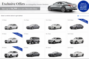 Get 25,000 United miles when you purchase/lease select Mercedes Benz vehicles.