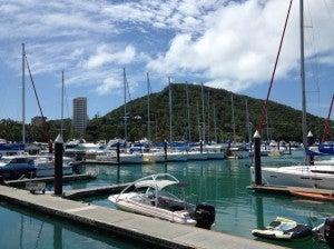 The Marina on Hamilton Island.