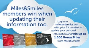 Get bonus miles for updating your contact info.