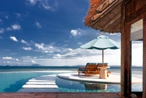 The Naka Island resort offers luxury villas.