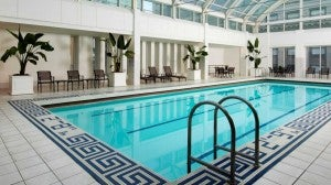 The pool at the Palace Hotel