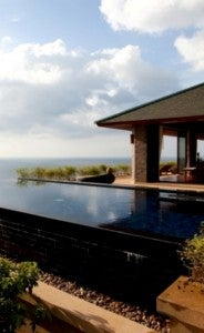 All villas have private infinity pools.