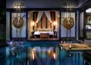 A pool villa at Anantara.
