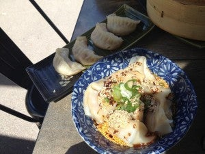 The pot stickers and won tons.