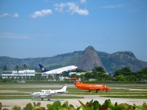 SDU airport, the smaller of the two main airports in Rio.