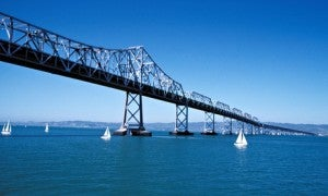 The SF Bay Bridge soon to be scrapped and turned into an Airbnb rental.