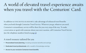 Benefits of Centurion Travel Service