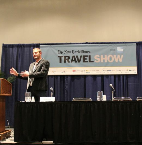 Speaking at the 2014 NY Times Travel Show