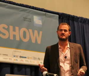 Me speaking at the 2014 New York Times Travel Show