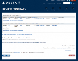 Why not fly Air France to Tahiti for 100,000 miles and $56?