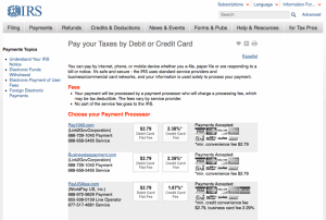 There are plenty of tax payment services that will let you use a points-earning credit card.