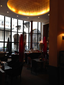 Lobby lounge and breakfast area, The Dominican, Brussels