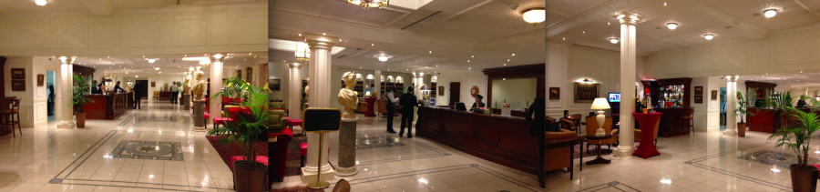 Lobby of the Hotel Stanhope, Brussels, Belgium