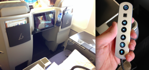 In-flight entertainment center and controls