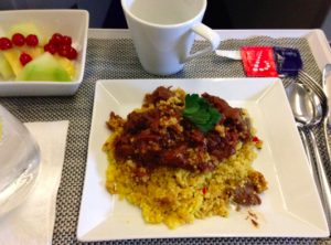 Moroccan Beef Stew served over couscous